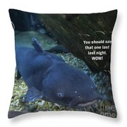 Talking Fish Throw Pillow