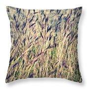 Tall Grass Throw Pillow by Silvia Ganora