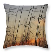 Tall Grasses Blowing In The Wind Throw Pillow