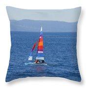 Tall Sail Throw Pillow