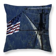 Tall Ship 3 Throw Pillow by Bob Christopher