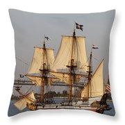 Tall Ship Four Throw Pillow