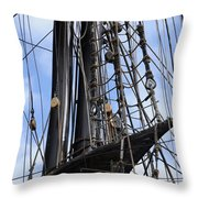 Tall Ship Mast Throw Pillow