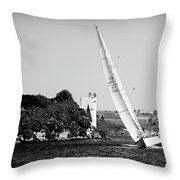 Tall Ship Race 1 Throw Pillow