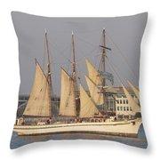 Tall Ship Seven Throw Pillow