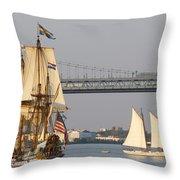 Tall Ship Six Throw Pillow