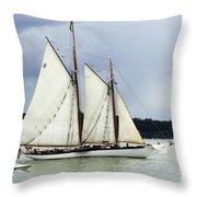 Tall Ship Tacoma Throw Pillow by Bob Christopher