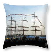 Tall Ships 2009. Klaipeda. Lithuania Throw Pillow