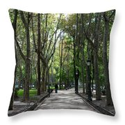 Tall Trees Of Madrid Throw Pillow