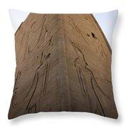 Tall Wall At Edfu Throw Pillow by Darcy Michaelchuk
