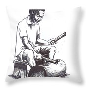 Tambourine Man Throw Pillow