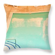 Tandem By The Pool Throw Pillow