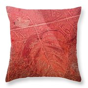 Tangerine Tango Heart Throw Pillow by Bonnie Bruno