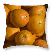 Tangerines Throw Pillow by Tim Mulina