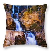 Tangle Falls At Dusk, Jasper National Throw Pillow