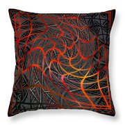 Tangled Web Of Lies Throw Pillow