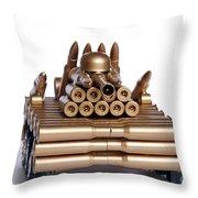 Tank From Shells Throw Pillow