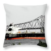 Tanker Baton Rouge Throw Pillow