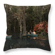 Tannic Acid From Old Trees Stains Water Throw Pillow