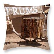 Taos Drum Shop Throw Pillow