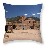 Taos Pueblo Throw Pillow