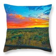 Taos Sunset Ix Throw Pillow