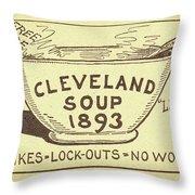 Tariff League Postcard, 1906 Throw Pillow