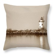Tarrytown Lighthouse Throw Pillow