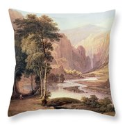 Tasmanian Gorge Throw Pillow
