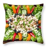 Tasty Chicken Salad Throw Pillow