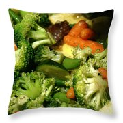 Tasty Veggie Stir Fry Throw Pillow