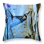 Tattered Paper On A Bulletin Board No.1045 Throw Pillow