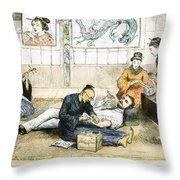 Tattoo Parlor, 1882 Throw Pillow