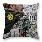 Tattoos And Patches Throw Pillow