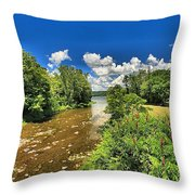 Taughannock Falls Creek Throw Pillow