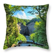 Taughannock Falls Overlook Throw Pillow