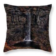 Taughannok Falls II - Hdr Throw Pillow