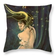 Taurus From Zodiac Series Throw Pillow by Dorina  Costras