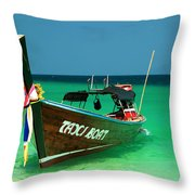 Taxi Boat Throw Pillow