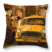 Taxi Talk Throw Pillow