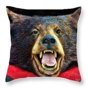 Taxidermy -  Black Bear Throw Pillow