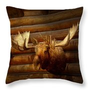 Taxidermy - The Hunting Lodge  Throw Pillow