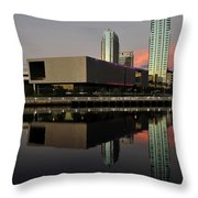 Tbmoa Vertical Split Work One Throw Pillow