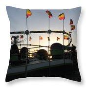 Tea Cups At Sunset Throw Pillow