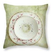 Tea Leaves Throw Pillow by Stephanie Frey