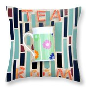 Tea Room Throw Pillow