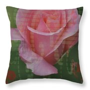 Tea Rose - Asia Series Throw Pillow