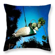 Tea Strainer Duck Throw Pillow