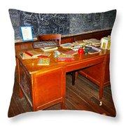 Teacher's Desk Throw Pillow