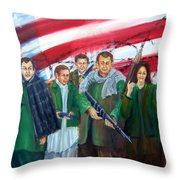 Tealibanization Of The Usa Throw Pillow